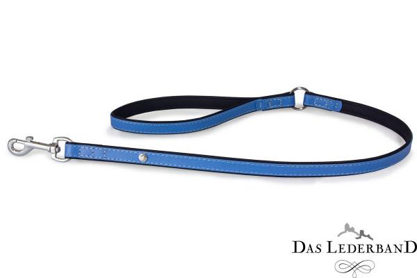 Das Lederband riem Firenze, Azure / Oxford Blue