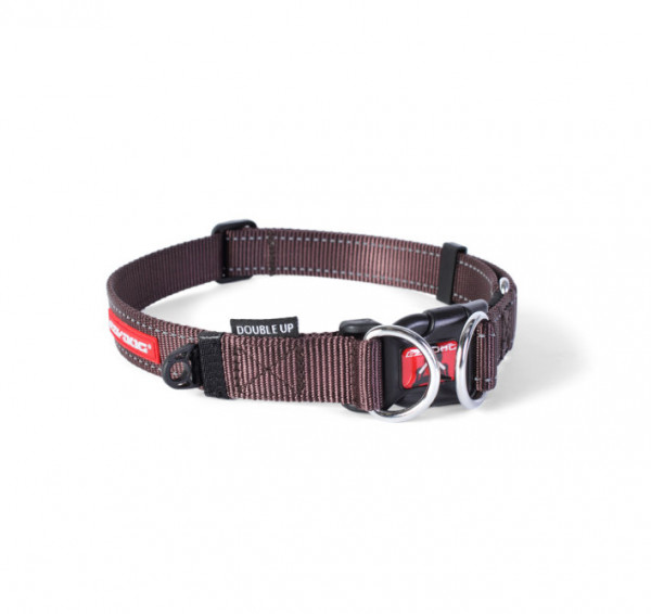 EzyDog Double Up Halsband, Chocolade