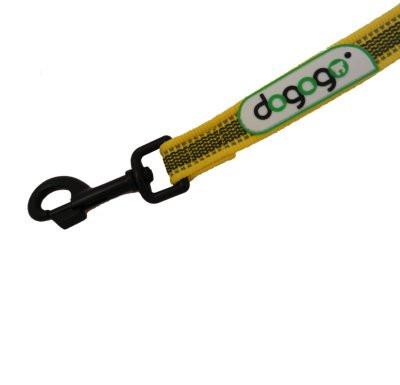 Dogogo antislip riem zonder handvat 14mm breedte, geel