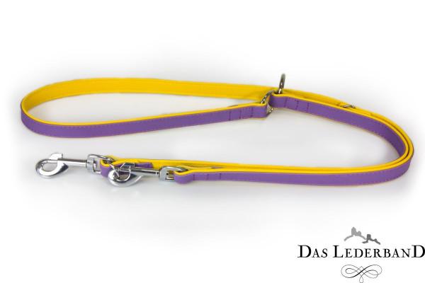 Das Lederband verstelbare looplijn Firenze, Lilac/Sunshine