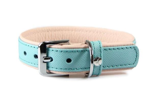 Das Lederband halsband Firenze Electric Blue / Nude