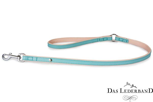 Das Lederband riem Firenze, Electric Blue / Nude