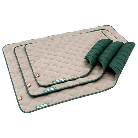 Doctor Bark fleece dubbelzijdige deken Beige - Mosgroen