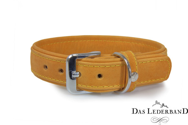 Das Lederband halsband Boston, Zand