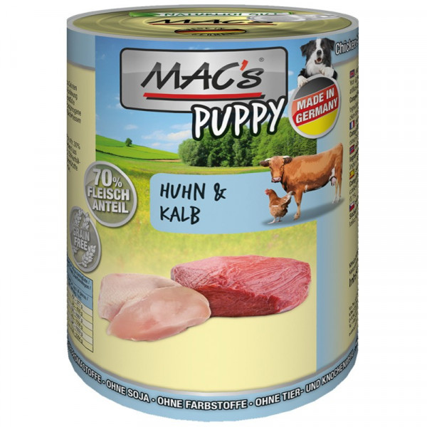 MAC's Dog Blikmenu Puppy Kip & Kalf