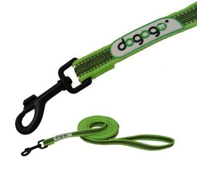 Dogogo antislip riem met handvat 20mm breedte, groen