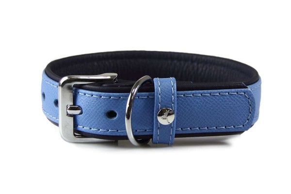Das Lederband halsband Firenze Azure / Oxford Blue