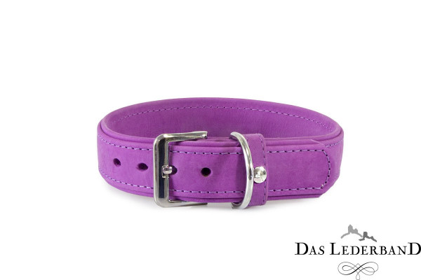 Das Lederband halsband Boston, Paars