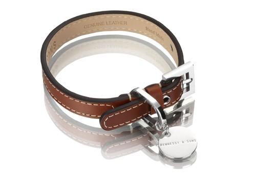 Henessy & Sons Royal halsband, roodbruin
