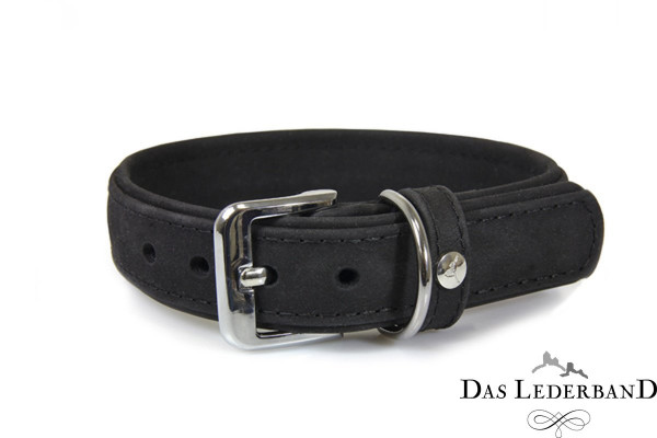 Das Lederband halsband Boston, Zwart