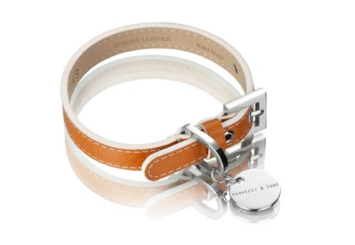 Henessy & Sons Saffiano halsband, Hermes Tan