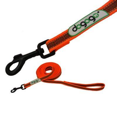 Dogogo antislip riem met handvat 20mm breedte, oranje