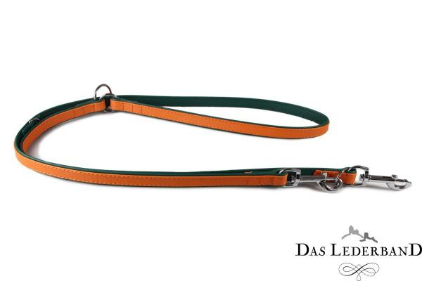 Das Lederband verstelbare looplijn Firenze, Orange/Forest