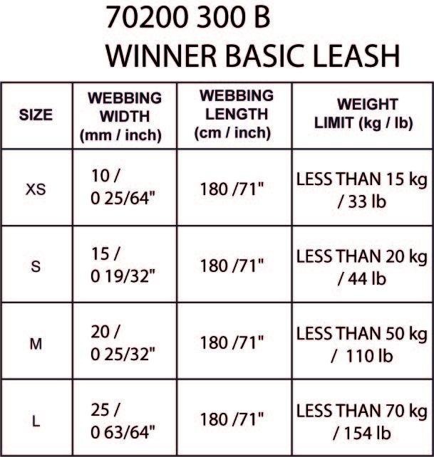 WINNER_BASIC_LEASH-maattabel
