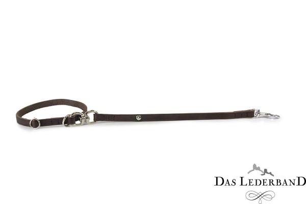 Das Lederband korte riem met halsband Graz, Mocca