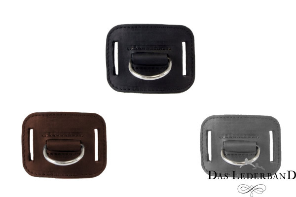 Das Lederband D-ring voor jachtriem Graz, Mocca
