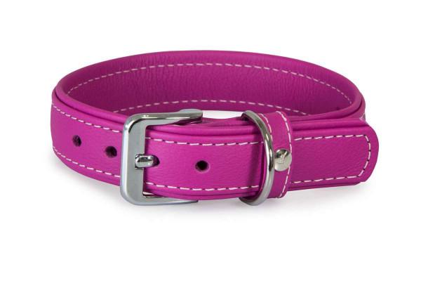 Das Lederband halsband Barcelona, Rose-Violet