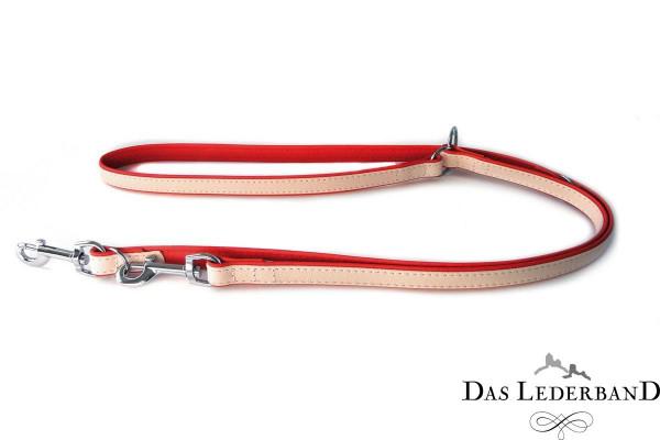 Das Lederband verstelbare looplijn Firenze, Rosy/Rubyred
