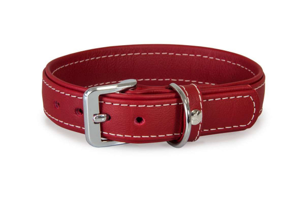 Das Lederband Halsband Barcelona, Indian-Red