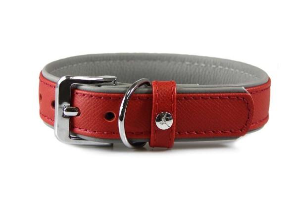 Das Lederband halsband Firenze Carnelian / Stone